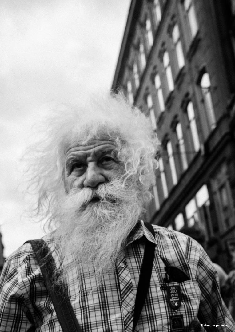 Portræt af gammel mand